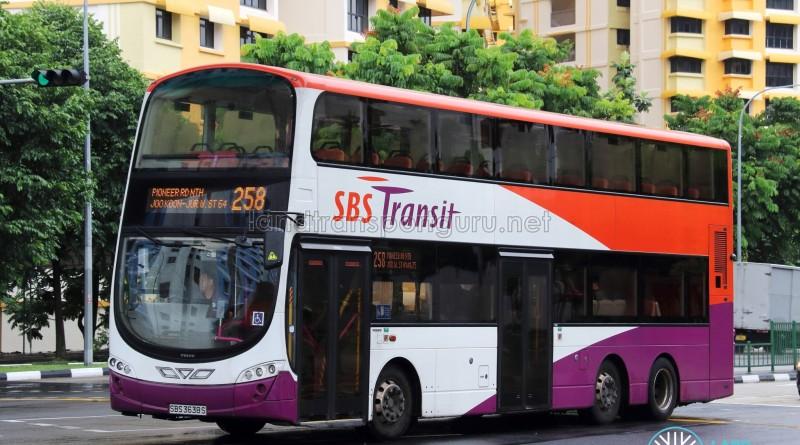 SBS Transit Volvo B9TL Wright (SBS3638S) - Service 258