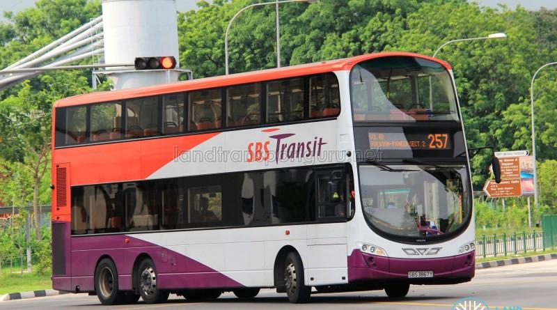 SBS Transit Volvo B9TL Wright (SBS3867Y) - Service 257