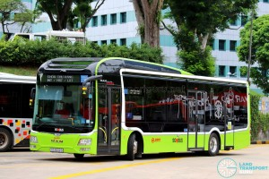 SMRT Buses - MAN Lion's City SD 3-Door (SG4002G) - Service 190
