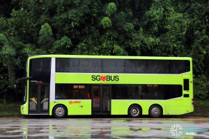 SMRT MAN A95 (SG5800M) - SMRT Buses (Side view)