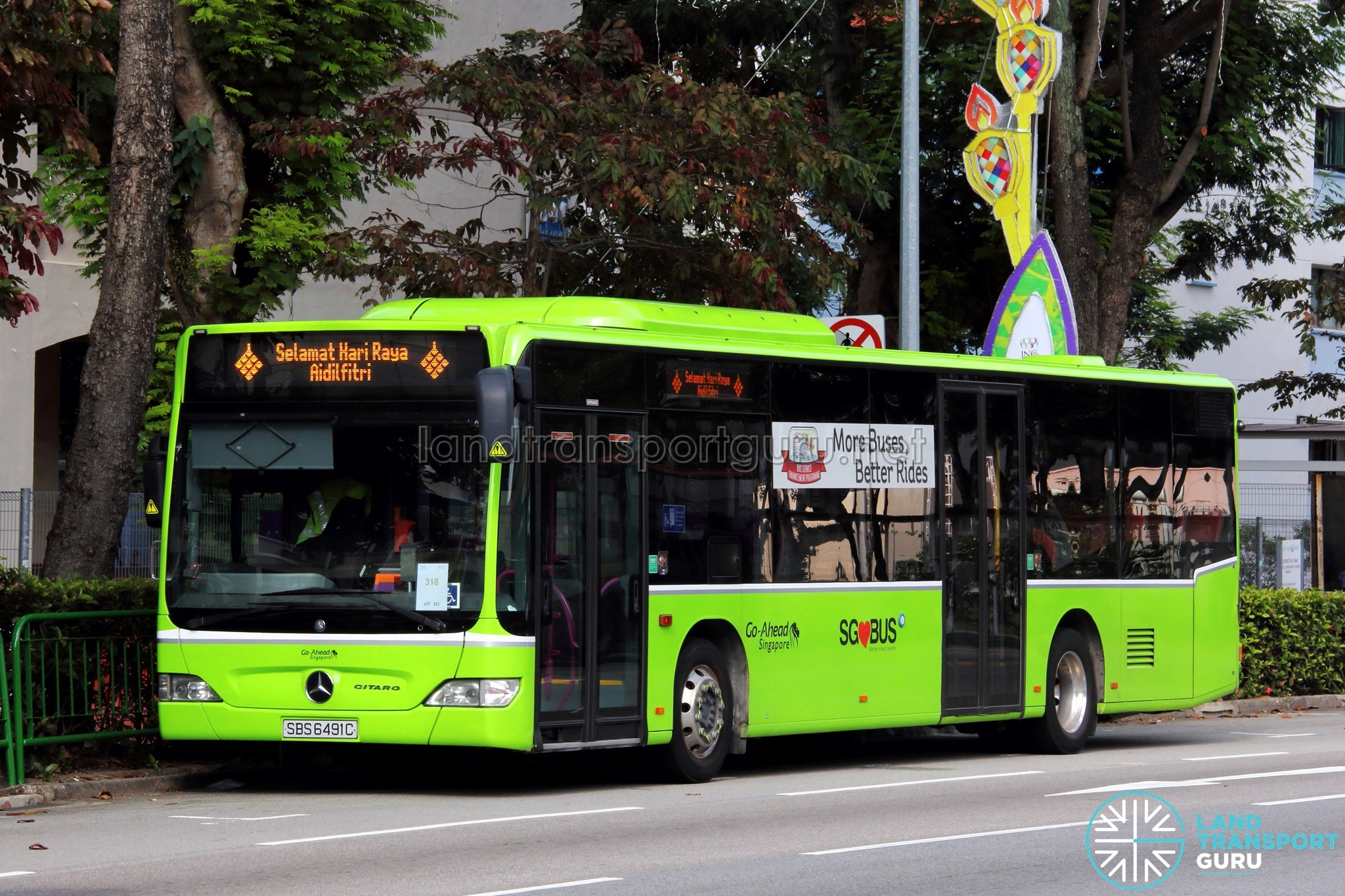 Go-Ahead Mercedes-Benz Citaro (SBS6491C) - Selamat Hari Raya