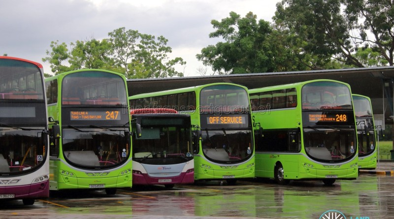 Bus Service 247 & 248 at Tuas Bus Terminal