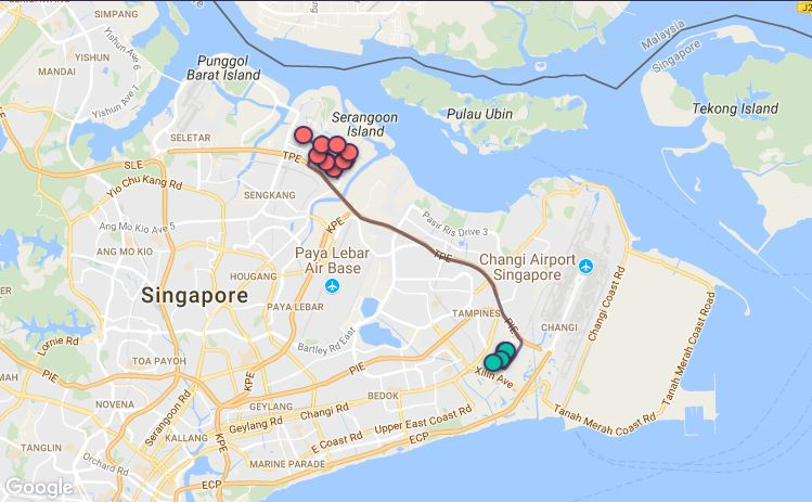 Route G62 at a glance. Map: Beeline.sg