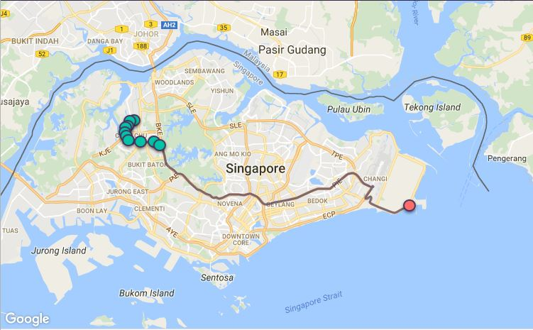 Route G89 at a glance. Map Image: Beeline.sg