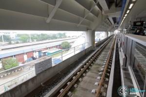 Gul Circle MRT Station - Unused Platform (Lower level) - Tracks