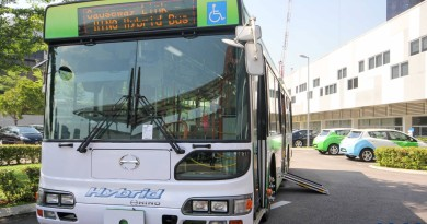 Hino Hybrid Bus - Front