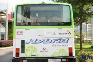 Hino Hybrid Bus - Rear