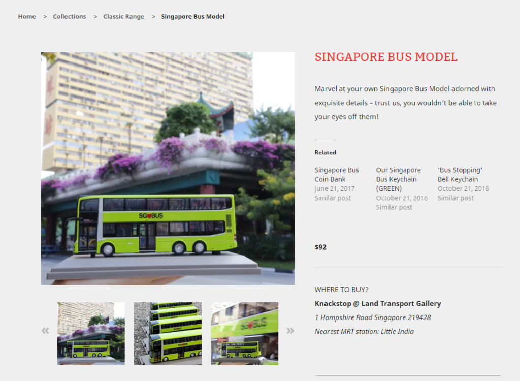 The Singapore Bus Model featured on Knackstop's website
