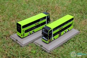 Knackstop MAN A95 bus model - Side by side