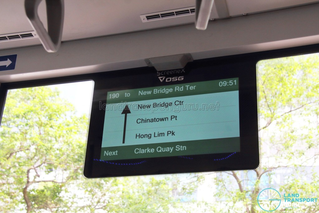 MAN Lion's City SD 3-Door (SG4002G) - Window-mounted OSG ScreeneX Passenger Information Display System (PIDS)