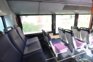 Mercedes-Benz O405G (Hispano Habit) - Rear Cabin - Last row of seats (Vogelsitze System 600)