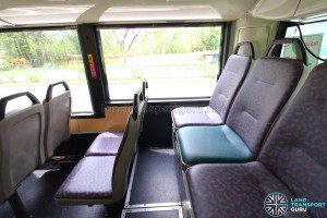 Mercedes-Benz O405G (TIB1105H) - Mismatched seat cover on last row