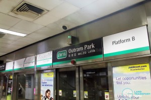 Trial Signage at Outram Park East-West Line Platform B (Jun 2017)