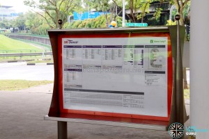 Tuas Bus Terminal Information Board