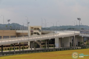 Tuas Bus Terminal - Vehicular ramp leading to Terminal