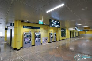 Tuas Crescent MRT Station - Ticketing machines
