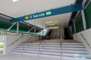 Tuas Link MRT Station - Exit A along Tuas West Drive (Southbound)