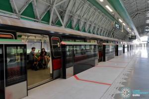 Tuas Link MRT Station - Platform A (to Pasir Ris)