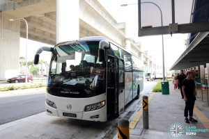 Aedge Holdings Buses were used for the Tuas West Extension Open House Shuttle Service