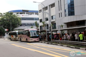 Tuas West Extension Open House - Shuttle Boarding Point at Joo Koon