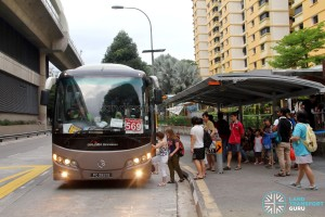 Tuas West Extension Open House - Shuttle Boarding Point at Pioneer