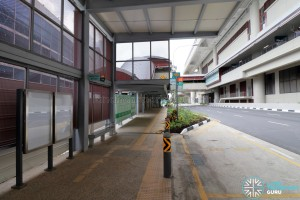 Tuas West Road MRT Station - Exit B & Bus Stop along Pioneer Road (Eastbound)