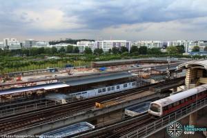 Woodlands Temporary Bus Interchange - Construction Progress (August 2016)