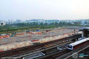 Woodlands Temporary Bus Interchange - Construction Progress (March 2015)