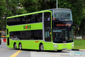 SMRT operates large numbers of MAN A95 buses as of September 2017