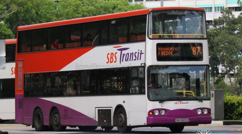 SBS Transit Volvo Super Olympian B10TL (SBS9832H) - Service 87