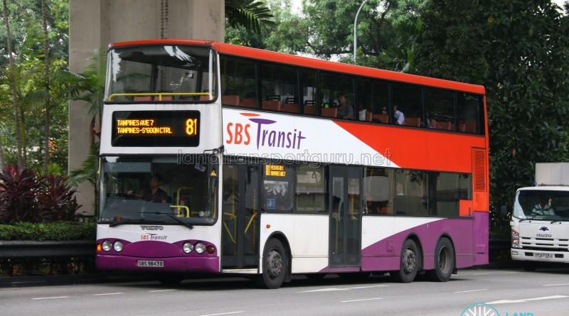 SBS Transit Volvo Super Olympian B10TL (SBS9843B) - Service 81