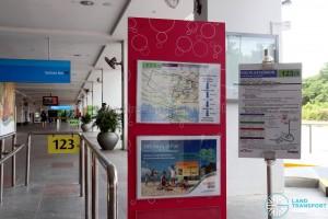 Service 123 Berth at Beach Station Bus Ter