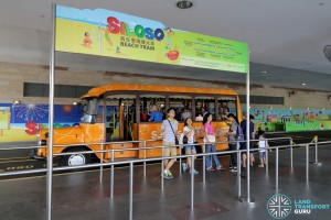 Beach Tram (Siloso Beach bound) Boarding Point