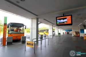 Sentosa Bus B berth at Beach Station Bus Ter