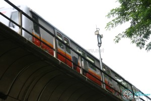 CBTC antenna along the North South Line near Yio Chu Kang