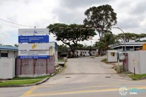 Hougang Bus Depot Expansion: Construction entrance