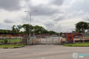 Hougang Bus Depot - Rear Entrance along Kim Chuan Road