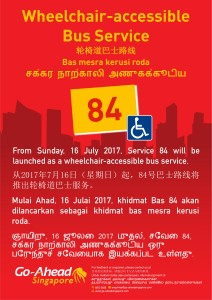 Wheelchair Accessible Bus Service 84 Poster
