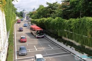 Bus Service 123 entering Resorts World Sentosa