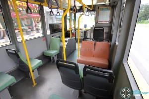 Volvo B10BLE CNG - Front seating