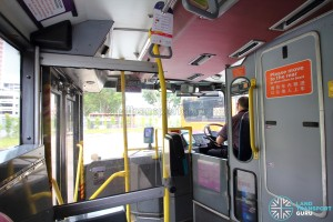 Volvo Olympian - Lower Deck (Entrance door and front cabin)