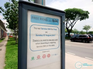 Free Rides for Service 944 on 27 Aug 2017
