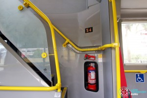 Alexander Dennis Enviro500 (Batch 2) - Staircase to Upper deck, with seat counter