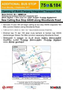 Bukit Panjang ITH Opening - Bus Stop 44049 Poster