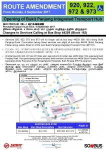 Bukit Panjang ITH Opening - Bus Stop 44259 Poster