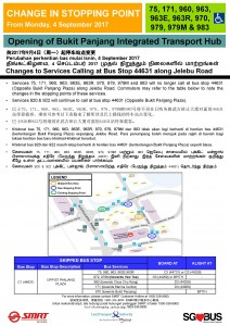 Bukit Panjang ITH Opening - Bus Stop 44631 Poster