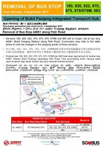Bukit Panjang ITH Opening - Bus Stop 44851 Poster