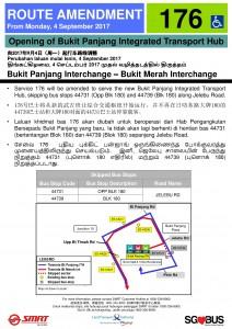 Bukit Panjang ITH Opening - Service 176 Poster