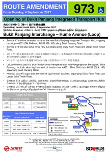 Bukit Panjang ITH Opening - Service 973 Poster