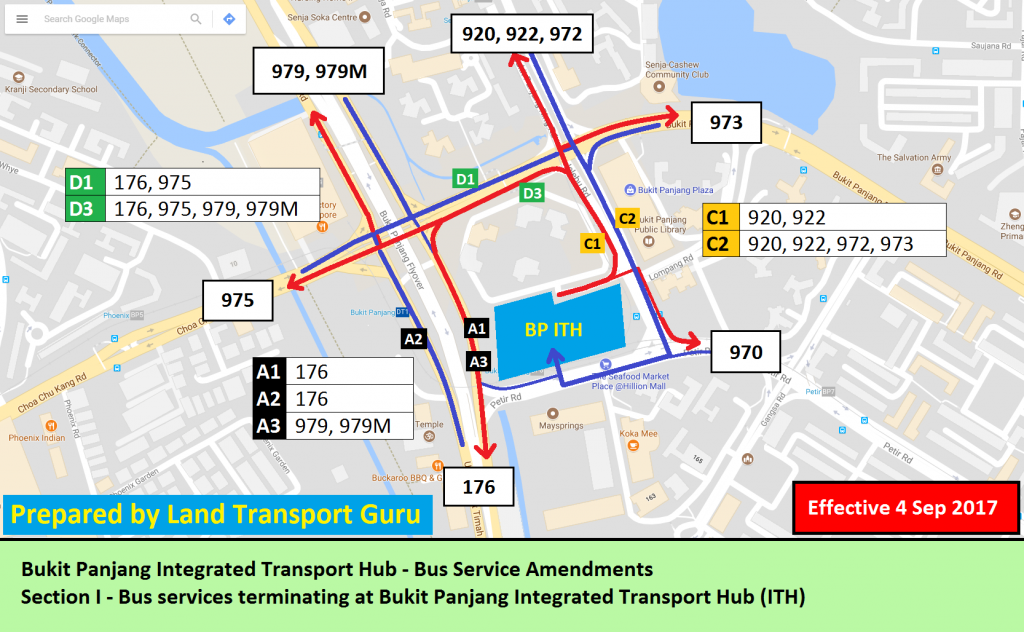 Bukit Panjang ITH Service Amendments - Section I